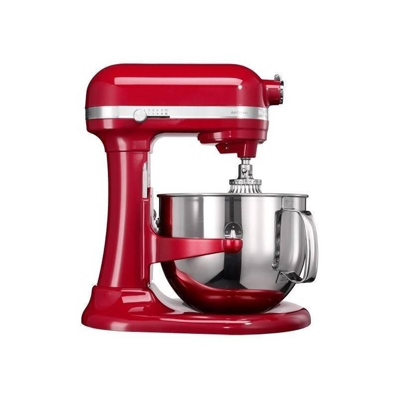 Kuchynský robot KitchenAid Artisan 5KSM7580XEER červený Příslušenství k robotu KitchenAid 5KR7SB mísa 6,9 l (leštěný nerez) (zdarma) + Doprava zadarmo