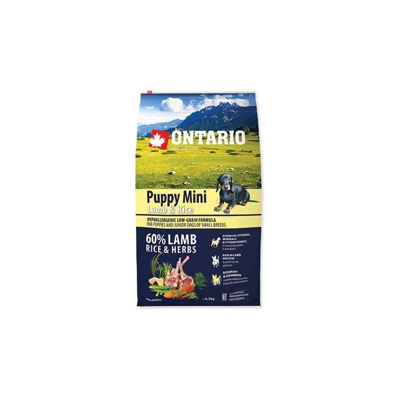 Granuly Ontario Puppy Mini Lamb & Rice 6,5 kg