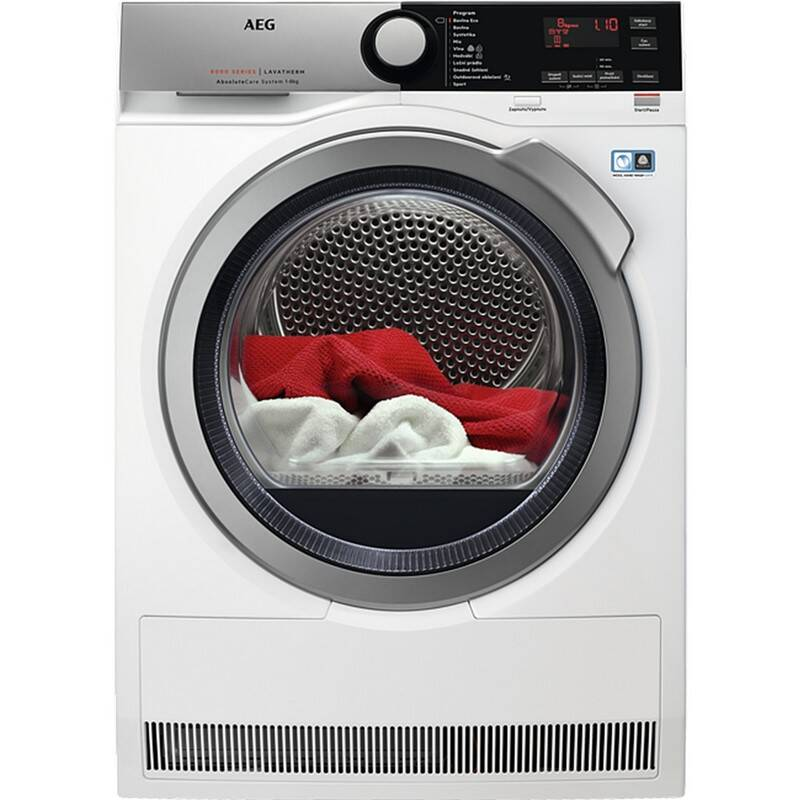 Sušička prádla AEG AbsoluteCare® T8DFE68SC bílá barva + AEG 10 let záruka na invertor motor