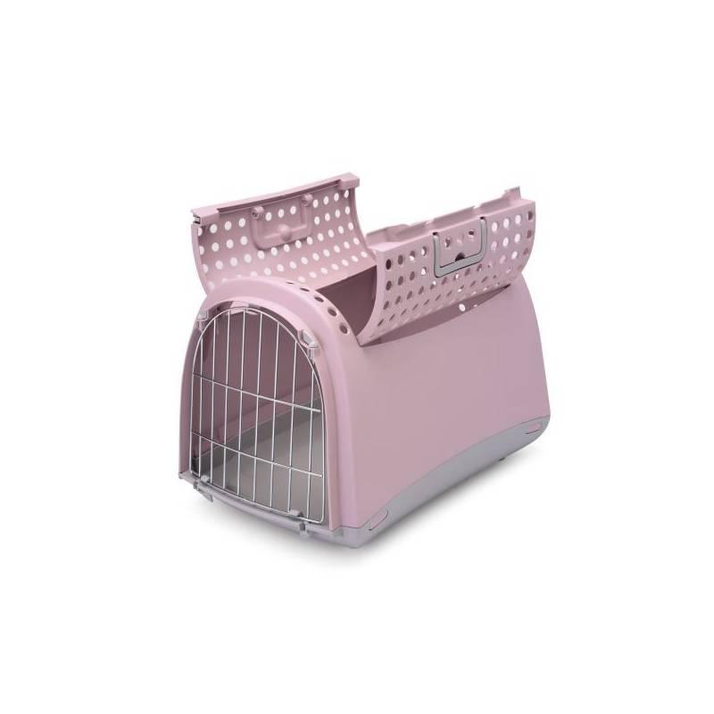 Prepravka Argi pre mačky a psy Cabrio 50 x 32 x 34,5 cm ružová