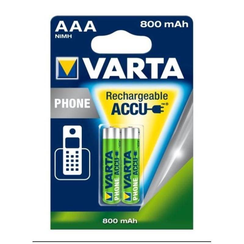 Batéria nabíjacie Varta Phone Rechargeable Accu, AAA, 800 mAh, 2 ks