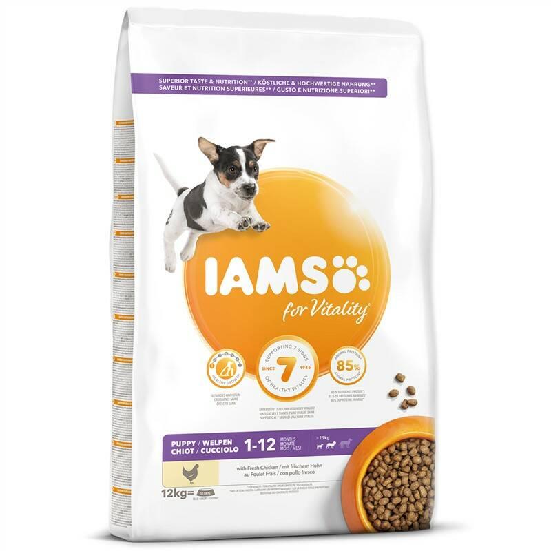 Granule Iams Dog Puppy Small & Medium Chicken 12kg