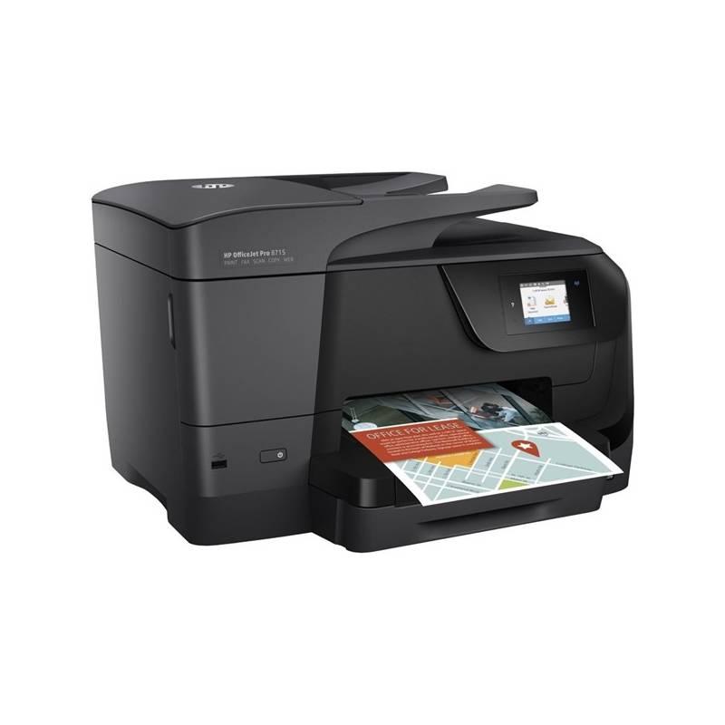 Tlačiareň multifunkčná HP Officejet Pro 8715 (J6X76A#625) čierny