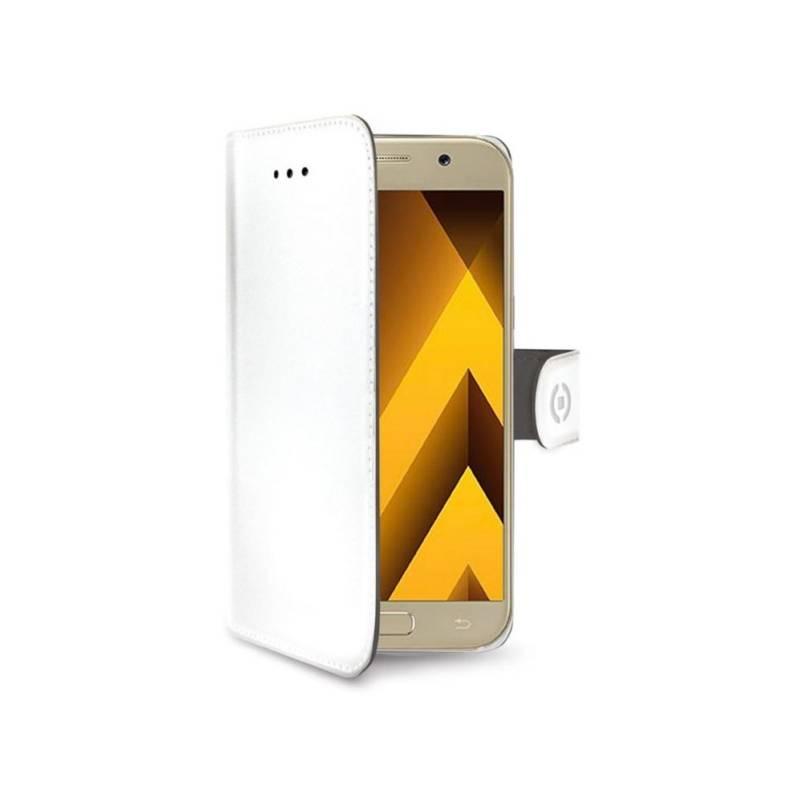 Puzdro na mobil flipové Celly Wally pro Samsung Galaxy A5 (2017) (WALLY645WH) biele