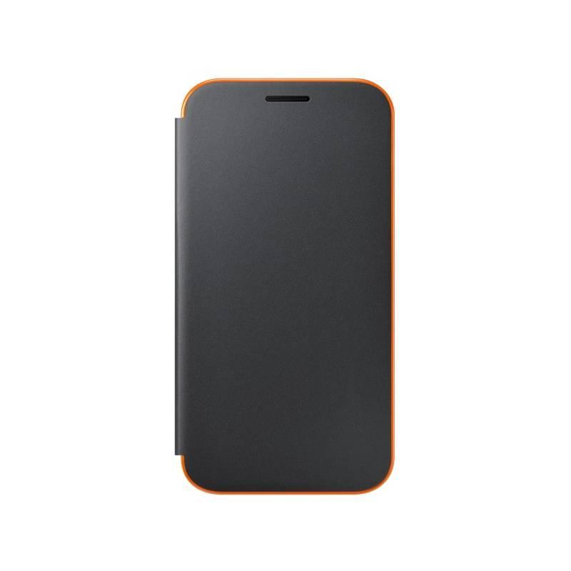 Pouzdro na mobil flipové Samsung Neon flip pro Galaxy A3 2017 (EF-FA320PBEGWW) černé