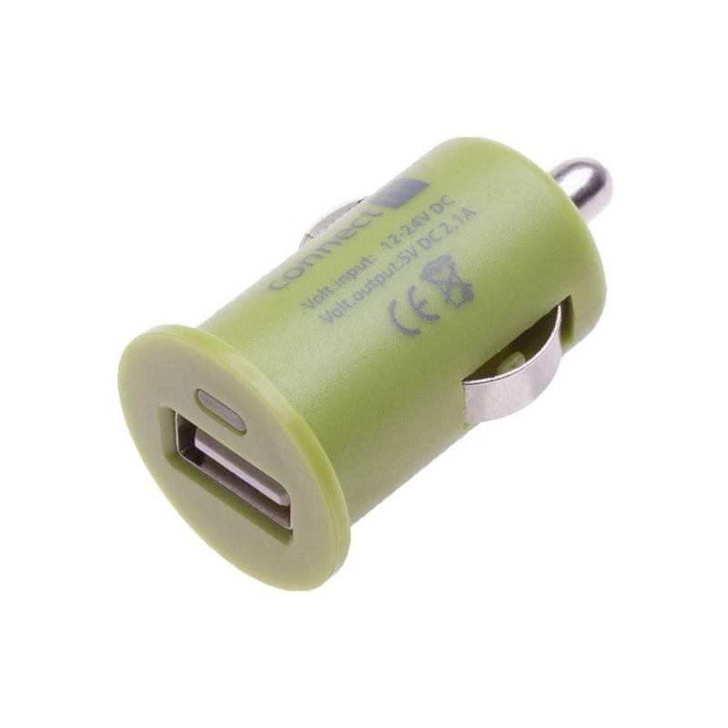 Adaptér do auta Connect IT InCarz COLORZ, 1x USB, 2,1A (CI-587) zelený
