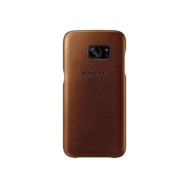 Kryt na mobil Samsung pro Galaxy S7 kožené (EF-VG930LU) (EF-VG930LUEGWW) béžový