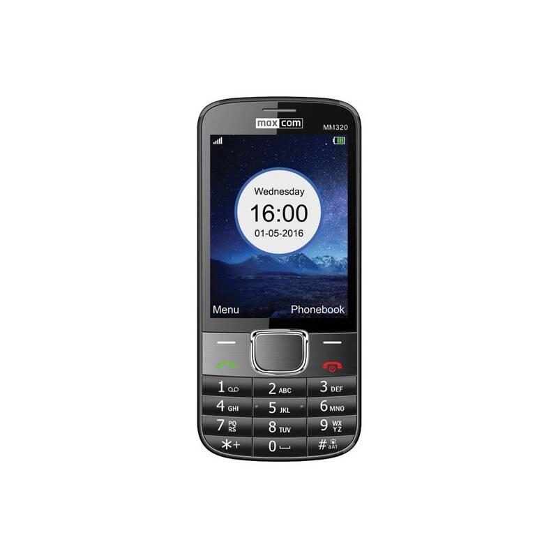 Mobilný telefón MaxCom Classic MM320 Single Sim (MM320BKSS) čierny
