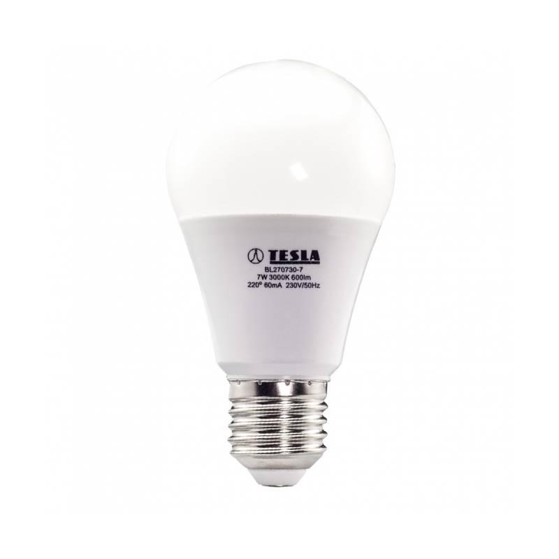 LED žiarovka Tesla klasik, 7W, E27, teplá bílá (BL270730-7)