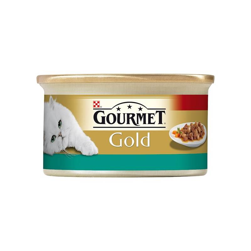Konzerva Gourmet Gold s lososom a kuracím 85 g