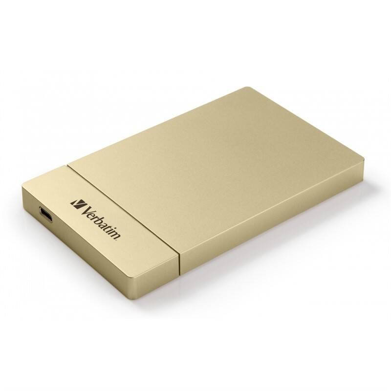 """Box na HDD Verbatim pro 2,5"""" HDD SATA, USB-C / USB 3.1. Gen2 (53104) zlatý"""