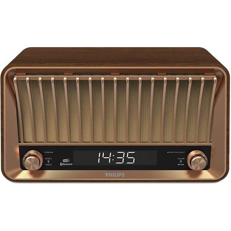Radiopřijímač s DAB Philips TAVS700 hnědý