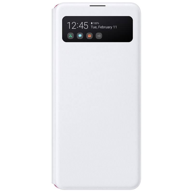 Púzdro na mobil flipové Samsung S View na Galaxy A41 (EF-EA415PWEGEU) biele