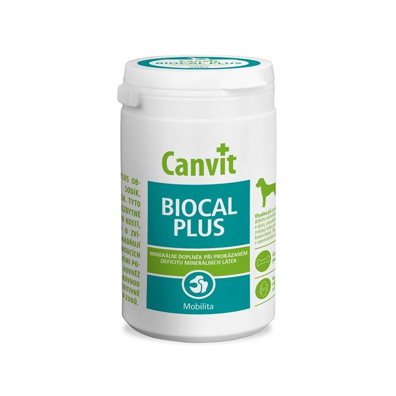 Tablety Canvit Biocal Plus pro psy 1000g new