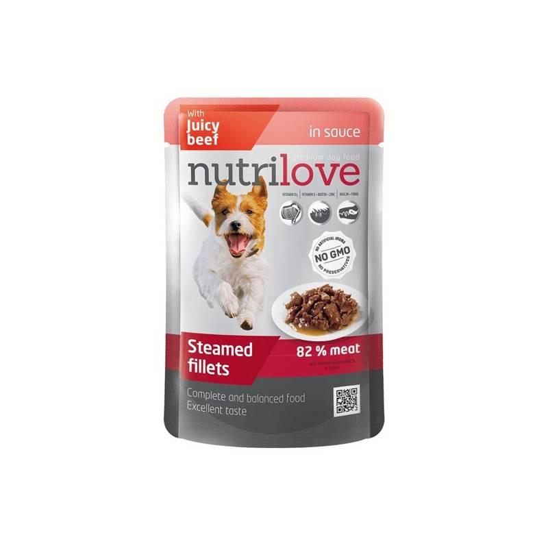 Kapsička Nutrilove Dog pouch Beef gravy 85 g