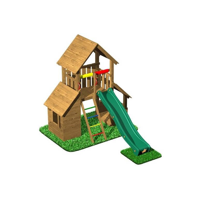 Detské ihrisko CUBS Honza 5 - věž s domečkem a obchůdkem + Doprava zadarmo