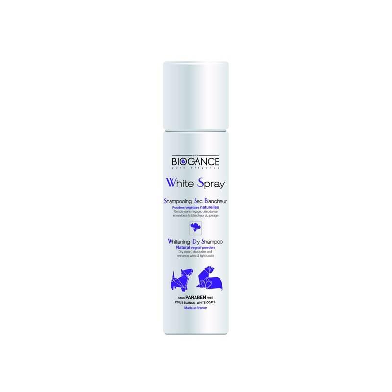 Šampón Biogance White spray - suchý na bílou srst 300 ml