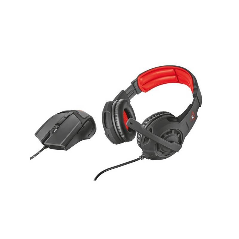 Herní set Trust GXT 784 headset + myš (21472) černý/červený