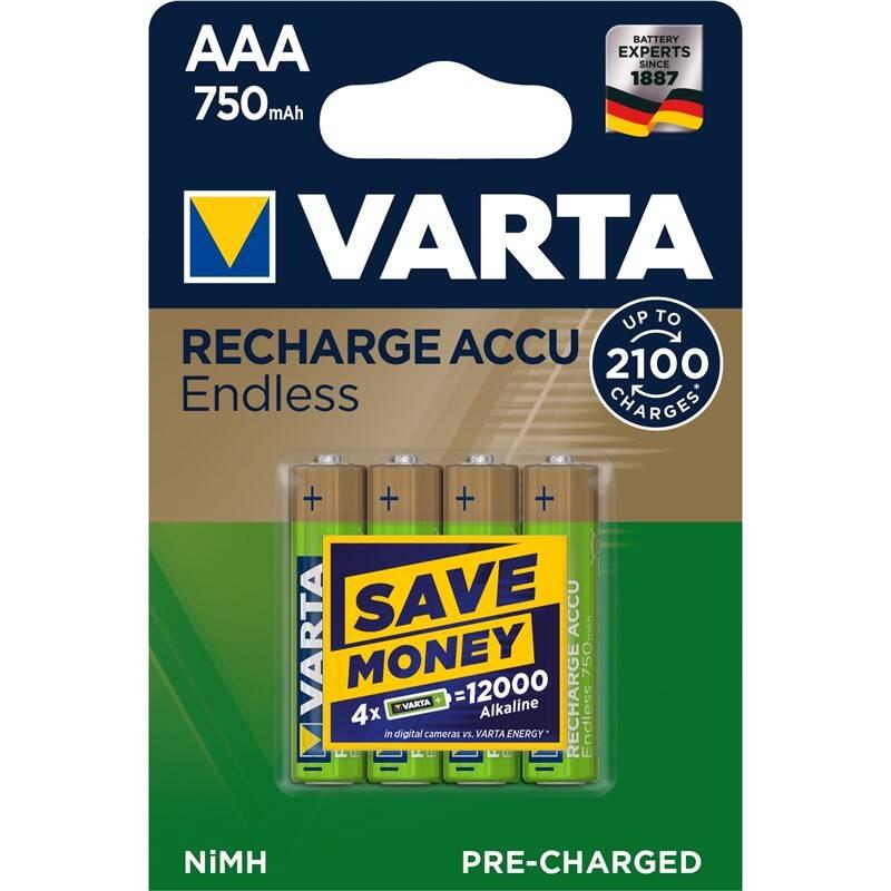 Batéria nabíjacie Varta Endless HR03, AAA, 750mAh, Ni-MH, blistr 4ks (56673101404)