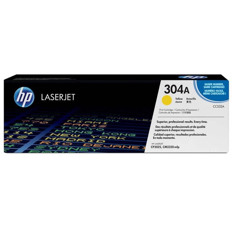 Toner HP 304A, 2800 stran (CC532A) žltý + Doprava zadarmo