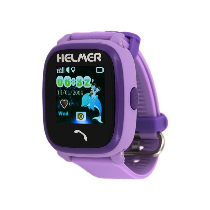 Chytré hodinky Helmer LK 704 dětské s GPS lokátorem (Helmer LK 704 V) fialové