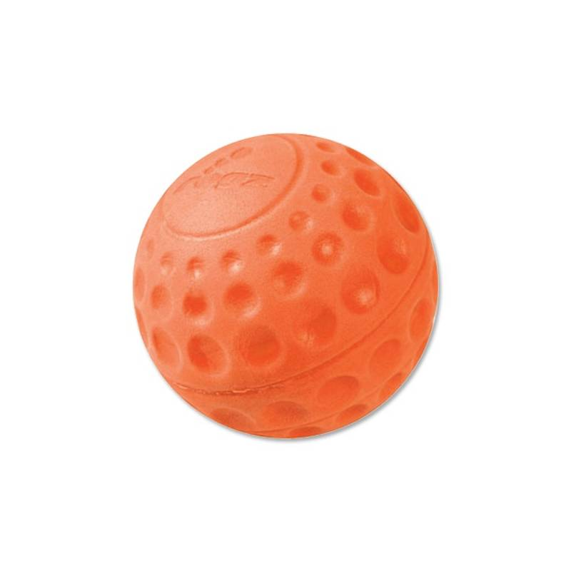 Hračka Rogz Asteroid míček 7,8cm oranžová