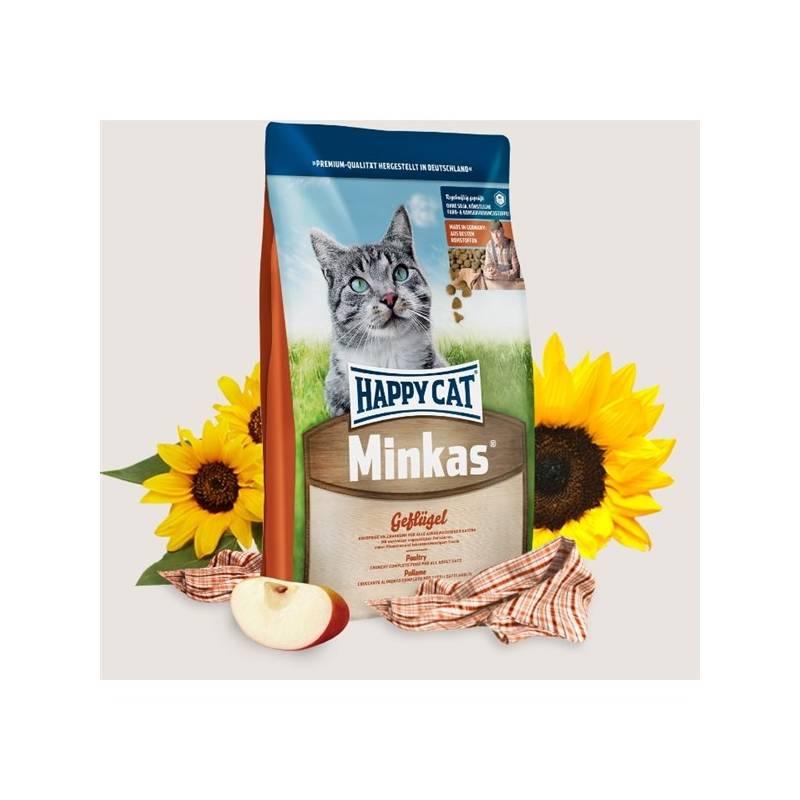 Granuly HAPPY CAT ADULT Minkas Geflügel - Drůbež 10 kg + Doprava zadarmo