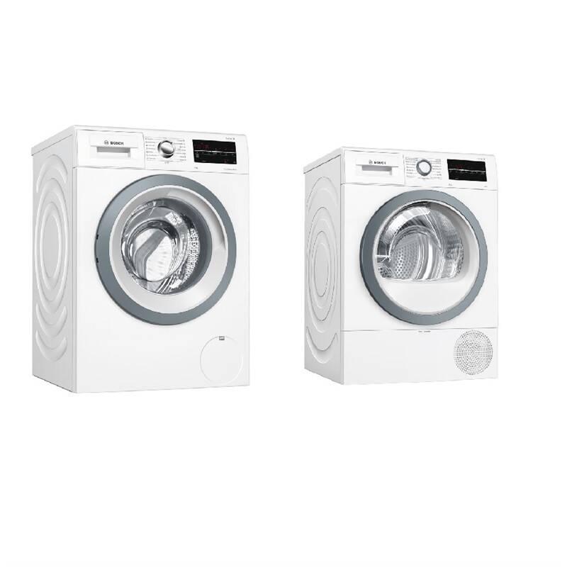 Set Bosch - pračka WAT28461CS + sušička WTR87TW0CS