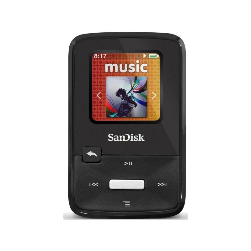 ddad7ef32 MP3 přehrávač Sandisk Sansa Clip Zip 4GB (619659072025) černý | KASA.cz