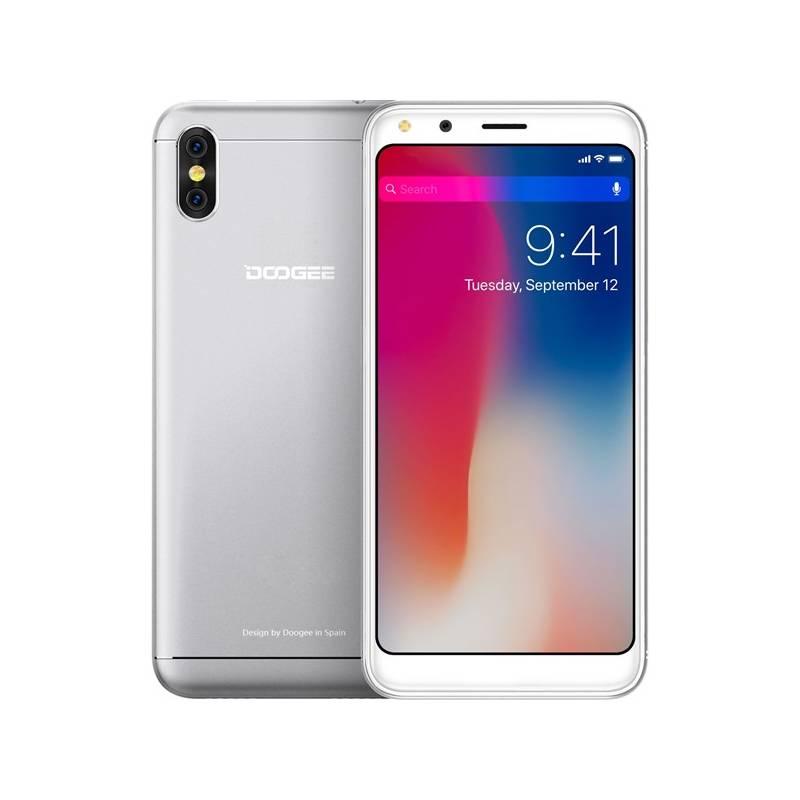 Mobilný telefón Doogee X53 Dual SIM 16 GB (6924351653415) strieborný