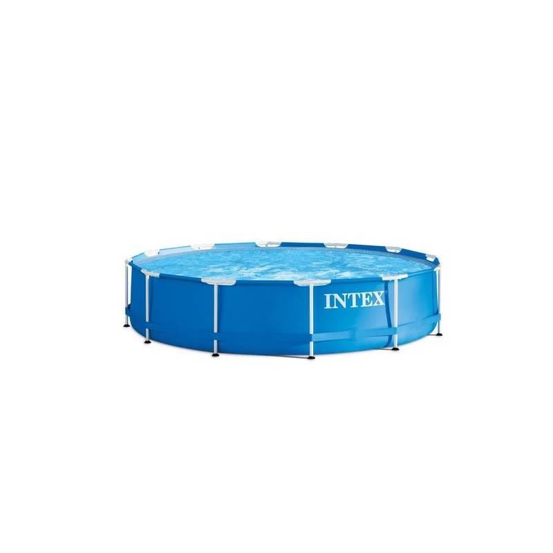 Bazén Intex Rondo průměr 366 x 76 cm + Bazénová chemie Marimex AQuaMar Start (Chlor Shock, pH- 1,35, Triplex mini 0,9, tester na pH a chlor) v hodnote 22.20 € ako darček