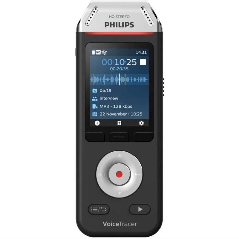 Diktafon Philips DVT2110 černý/stříbrný