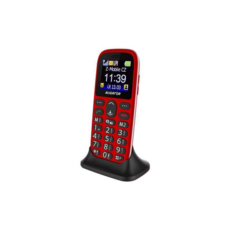 Mobilný telefón Aligator A510 Senior (A510R) červený
