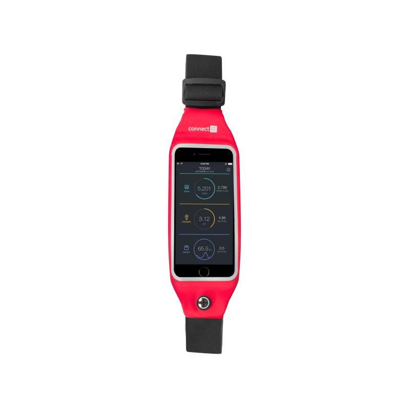 """Bežecký pás Connect IT pro mobily s uhlopříčkou 4,7"""" (CFF-2150-RD) červený"""