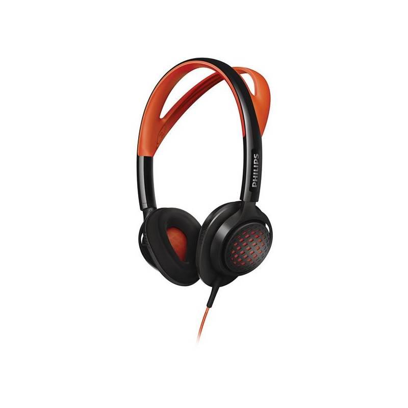 Sluchátka Philips SHQ5200 černá/oranžová
