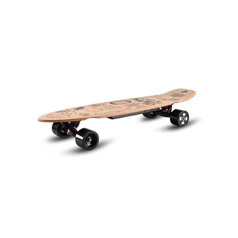 Longboard elektrický Skatey wood art + Doprava zadarmo