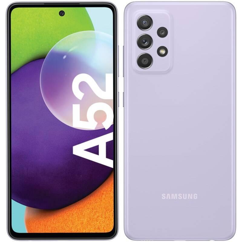 Mobilný telefón Samsung Galaxy A52 128 GB (SM-A525FLVGEUE) fialový