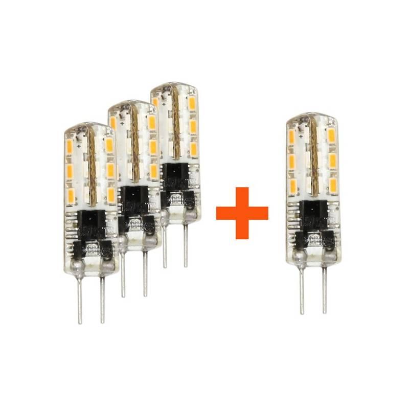 SADA 3 + 1 zdarma LED Žárovek Tesla bodová, 1,5W, G4, teplá bílá