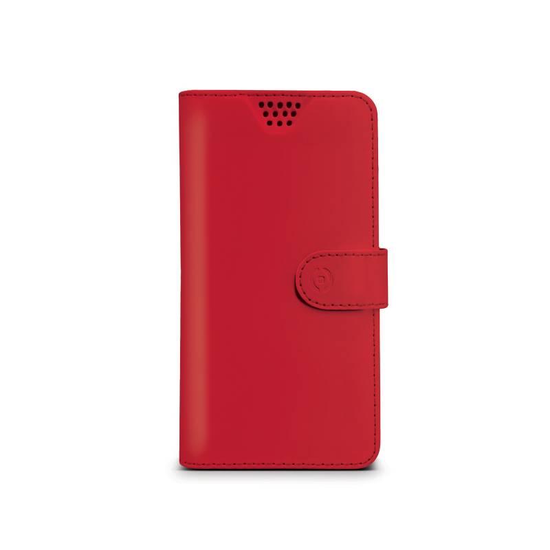"""Puzdro na mobil flipové Celly Wally Unica, XL, 4.5"""" - 5"""" (WALLYUNIXLRD) červené"""
