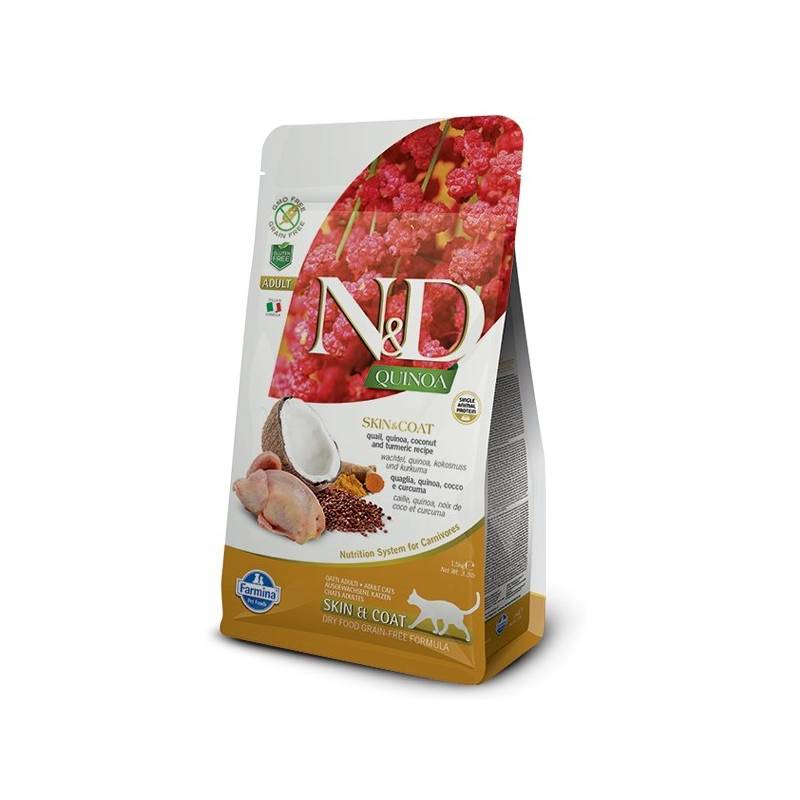Granule N&D Grain Free Quinoa CAT Skin&Coat Quail & Coconut 1,5 kg