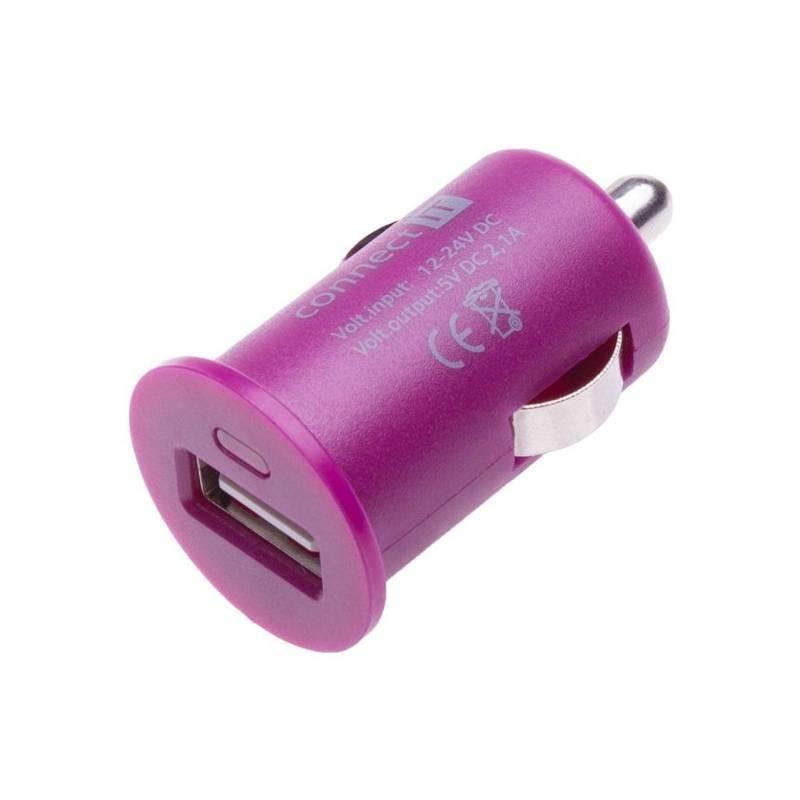Adaptér do auta Connect IT InCarz COLORZ, USB, 2,1A (CI-592) fialový
