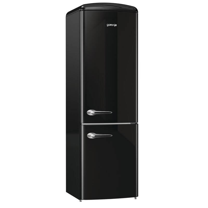 Kombinácia chladničky s mrazničkou Gorenje Retro ORK193BK čierna + Doprava zadarmo