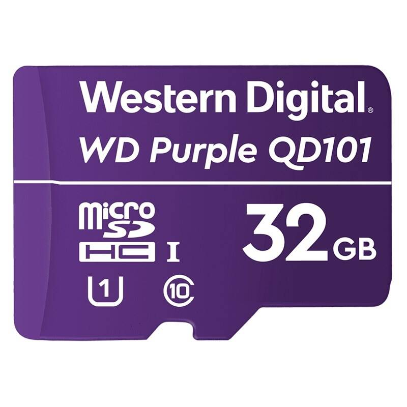 Pamäťová karta Western Digital Purple microSDHC 32GB UHS-I U1 (WDD032G1P0C)