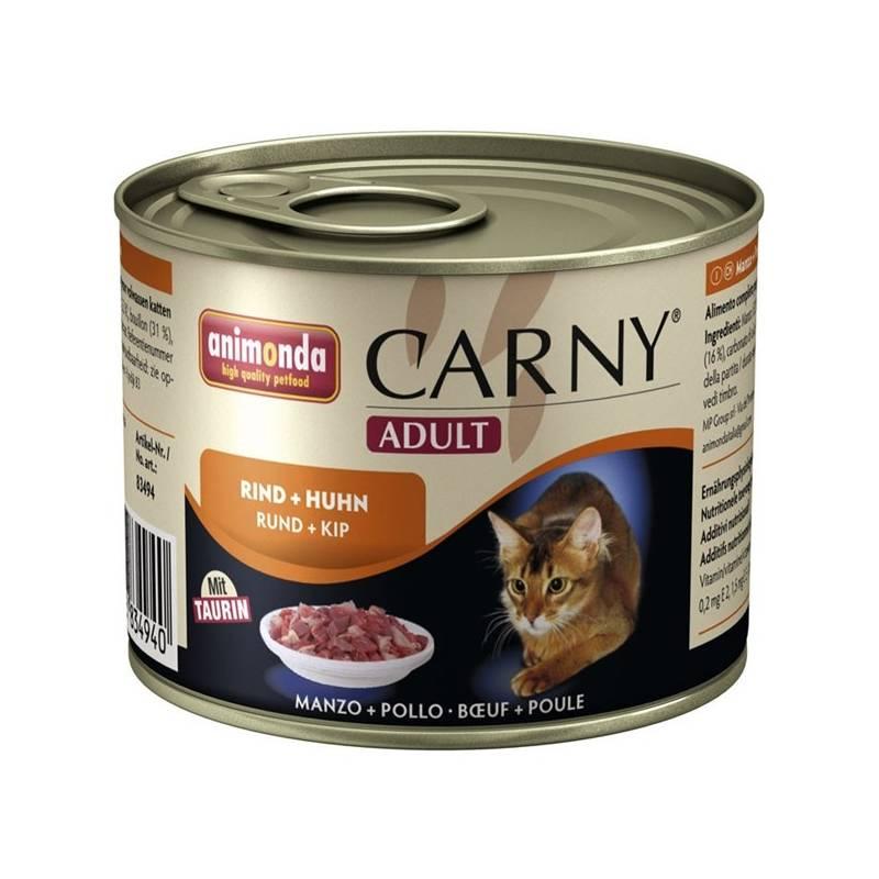 Konzerva Animonda Carny Adult hovězí + kuřecí 200g