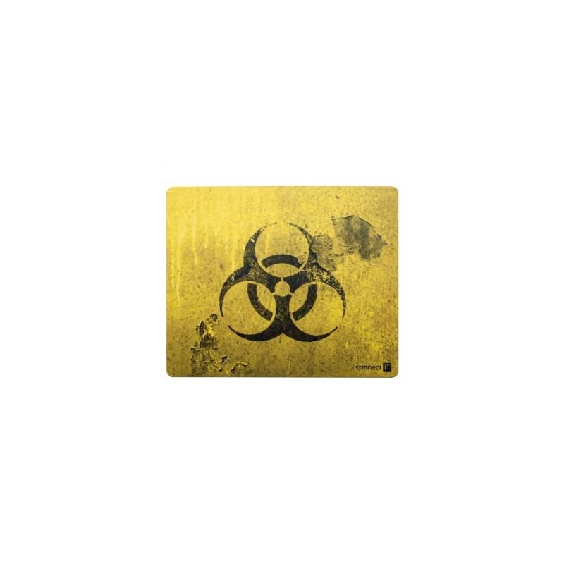 Podložka pod myš Connect IT Biohazard CI-194, 32 x 26 cm (CI-194) čierna/žltá