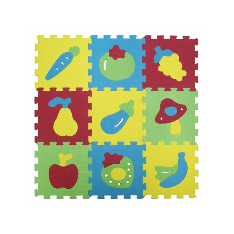 Penové puzzle Ludi - ovoce a zalenina + Doprava zadarmo