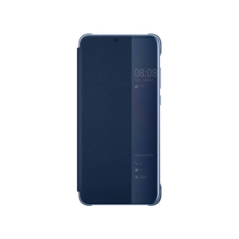 Pouzdro na mobil flipové Huawei Original Smart View pro P20 Pro (51992368) modré