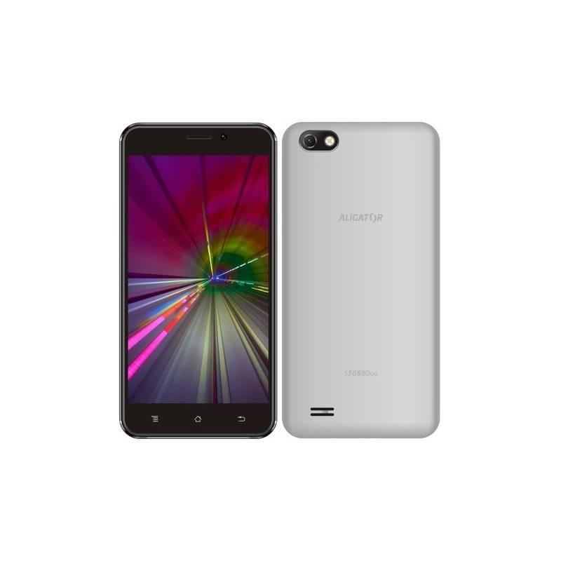 Mobilní telefon Aligator S5066 (AS5066SR) stříbrný