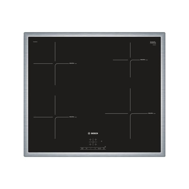 Indukční varná deska Bosch PIE645BB1E černá/nerez