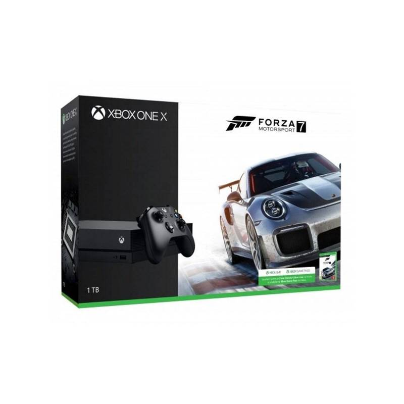 Herní konzole Microsoft Xbox One X, 1TB + Forza Motorsport 7 (CYV-00010)